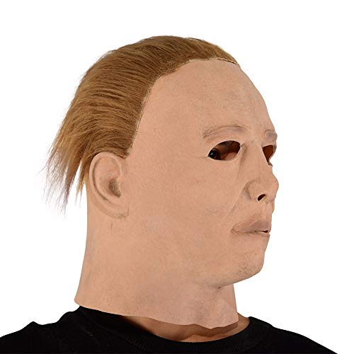 Morrenz - Scary MichaelMyers Mask Horror Movie Halloween Cosplay Adult Latex Party Mask (Yellow Skin)