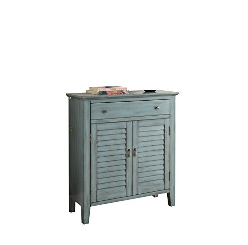 - ACME Furniture AC-97247 sofa & console tables, One Size, Antique Blue