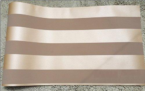 QIHANG European Modern Minimalist Country Luxury Stripe Wallpaper Roll for Living Room Bedroom Tv Backdrop Brown Color by QIHANG (Image #4)