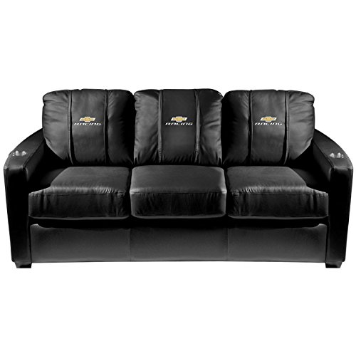 XZipit GM Silver Sofa with Chevy Racing Logo Panel, Black