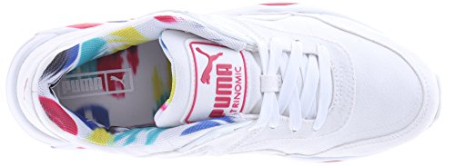 Estilo de la zapatilla de deporte de Puma R698 falta de definición clásica Wn White-Rose Red