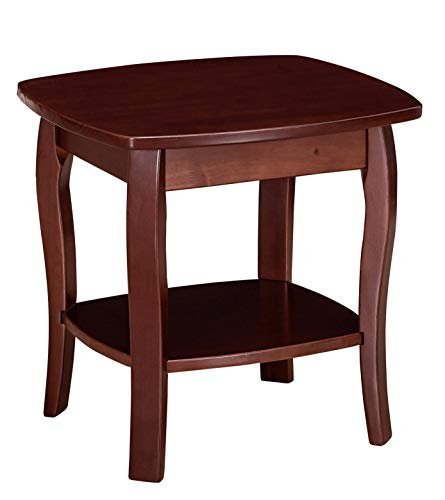 Ravenna Home Anne Marie Small Curved Leg Shelf Storage Side End Table, 20