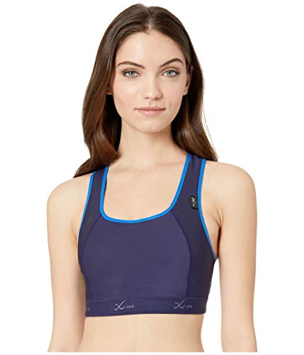 (CW-X Cross Over Racer Back Xtra Support Iii Stretch Sports Bra, Navy/Blue, 34D)