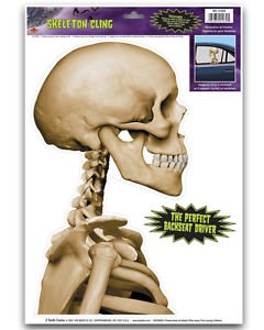 [New Halloween Back Seat Driver Skeleton Car Clings Party Decoration 12-17