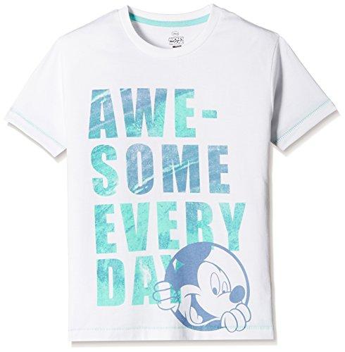 Mickey & Friends Boys' T-Shirt (MF0EBT1548_White_7 - 8 years)