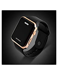 Unisex Simple Disign LED Digital Watch for Men, Women Rose Gold