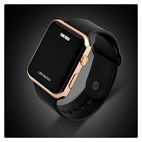 Led Digital Watch (Unisex Simple Disign LED Digital Watch for Men, Women Rose Gold)