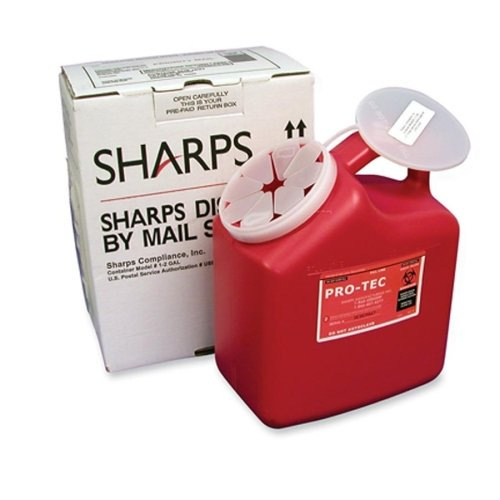 Mail-away Sharp Container, 2 Gallon, 6-7/8