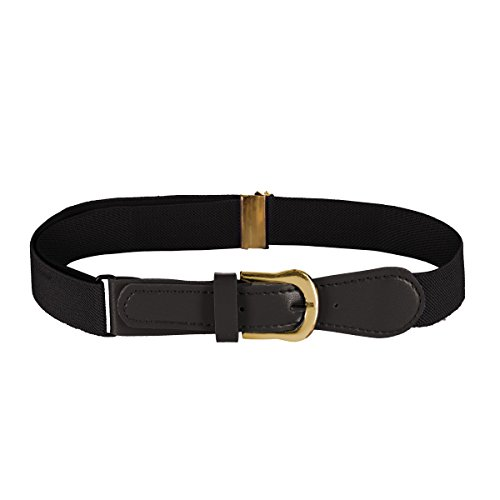 FIT RITE Kids Elastic Adjustable Belt with Leather Closure