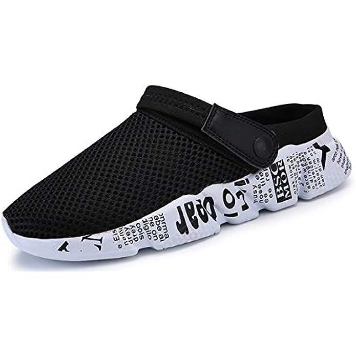 Sooneeya Mens Womens Breathable Mesh Net Sandals Slippers Lightweight Walking Slip on Half Shoes Summer Beach Sport Sandals