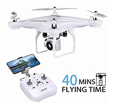 RC Drone with 720P HD Adjustable Camera Live Video FPV for Adults and Beginners 40mins Flight Time Drone Quadcopter,APP Controlled Altitude Hold 3D Flips Long Flight Time Helicopter Toy Bonus Battery