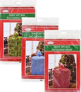 Amazon.com: Juego de 2 bolsas gigantes de regalo de Navidad ...