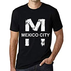 MEXICO CITY, Men's T shirt, 100% cotton, sizes: X-Small, Small, Medium, Large, X-Large, XX-Large, 3X-Large, 4X-Large, 5X-Large.Garment care: hand wash and machine washable. Our t-shirts are printed using ecological solvent-free water based in...