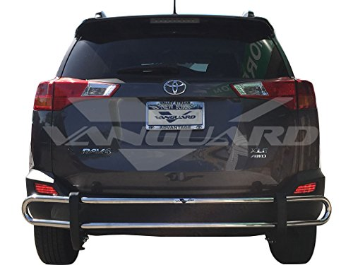 VANGUARD Off Road VGRBG-0369-1115SS For Toyota RAV 4 2006-2018 Rear Bumper Guard Stainless Steel Double Tube Style ()