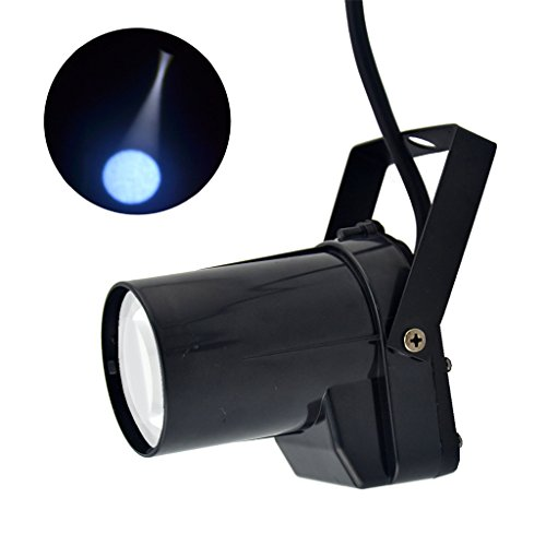 Mini Portable 5W Single Color LED Pinspot Light Strong Spotlights Beam Show Lamp DJ Party Stage Lighting LE-M01-W