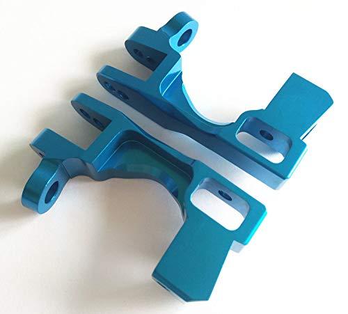 CrazyRacer Aluminum Caster Blocks C-hubs Blue for Traxxas 1/10 Slash 4X4 Stampede 4X4 XO-1 Ford Fiesta ST Rally Rally VXL RUSTERLER 4X4 Telluride 4x4 6832 6832X