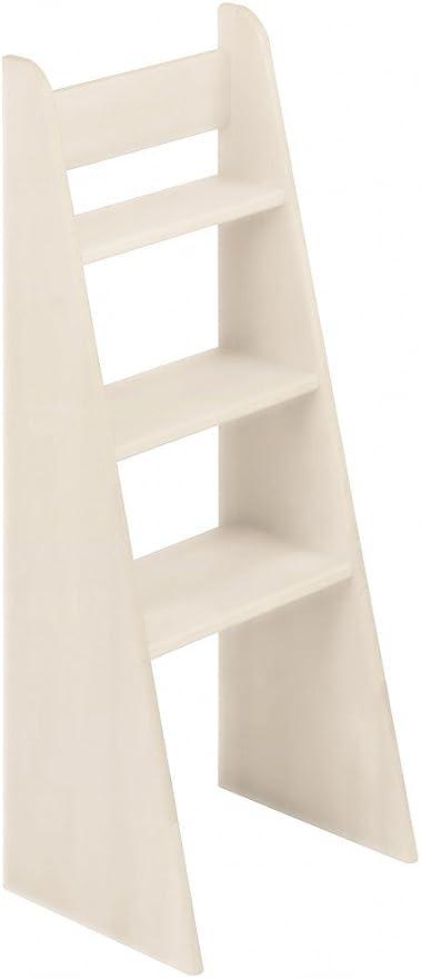 BioKinder 23819 Escalera de Mano Noah con Cama de Madera Maciza de Pino 100 cm Barnizado Blanco: Amazon.es: Hogar