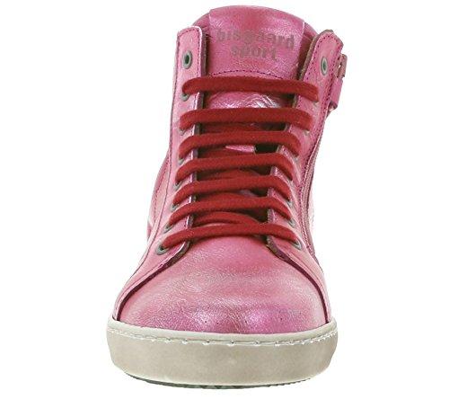 bisgaard Star Schuhe Kinder Echtleder-Sneaker High-Top Pink 31807-216 906 Red