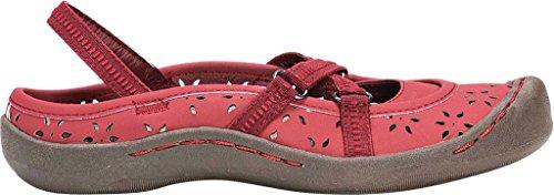 Bailarinas LUKS Tiras Brick Red Zapatos Mujer de para MUK Mujer Erin con 0gnxn7p