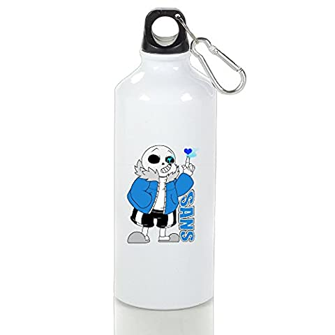 ZZYY Stylish Sans Undertale Role-playing Video Game Character Aluminum Climbing Kettle White With Carabiner Hook - Seattle Seahawks Disc