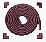 Pippsqueaks 17.7ft 'Superior Child Protection' Edge and Corner Guards (16.5ft Edge + 4 corners) – Brown