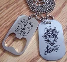 Sailor Jerry Rum Dog Tag Bottle Opener