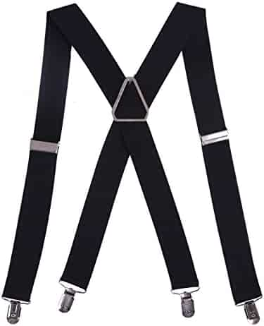 32bae6467 HDE Men s Big and Tall X-Back Clip Suspenders 1.5