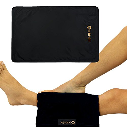 Ice Pack for Knee Replacement Surgery, Soft Gel Flash Pillow, Arthritis Cooling Pain Relief, Swelling Inflammation Reduce for Hip, Back, Shoulder, Knee, Black, 14.6