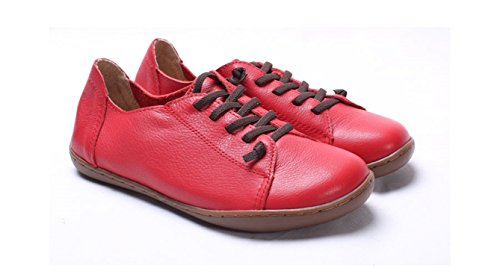 Amazon.com | Dahanyi Stylish Women Shoes Flat Authentic Leather Plain toe Lace up Ladies Shoes Flats Woman Moccasins Female Footwear | Oxfords