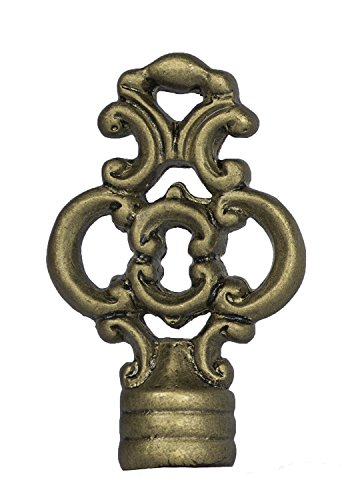 Urbanest Key Lamp Finial, 2 3/8-inch Tall, Antique Gold ()