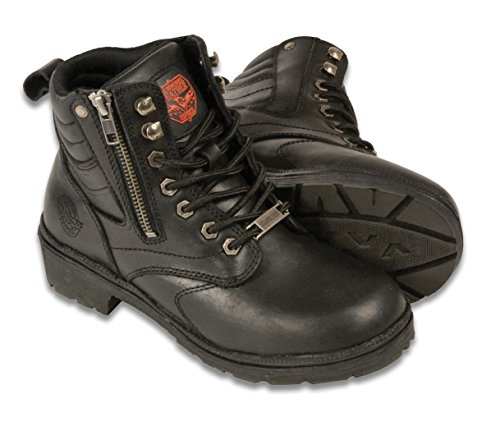Milwaukee MBL9320-BLK-9.5 Women's Side Zipper Plain Toe Boots (Black, Size 9.5) by Milwaukee