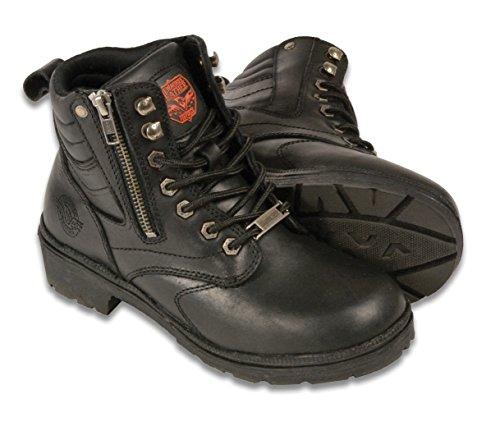 (Milwaukee MBL9320-BLK-9 Women's Side Zipper Plain Toe Boots (Black, Size 9))