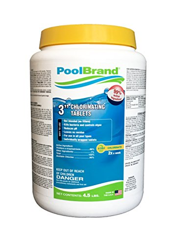 (Pool Brand Swimming Stabilized Chlorine Tablets, Commercial Grade (4.5lb))