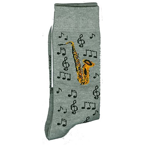 Price comparison product image Brass Gold Sax Saxophone Music Band Unisex Novelty Ankle Socks Adult Size 6-11