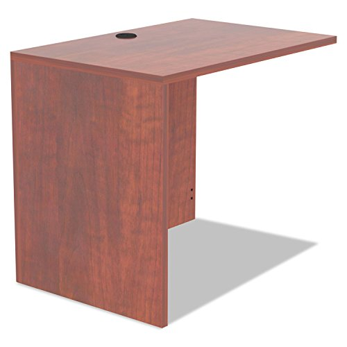 Alera Valencia Series Reversible Return/Bridge Shell, 35w x 23-5/8d, Medium Cherry by Alera