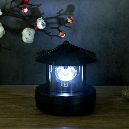 /éclairage ext/érieur Herewegoo Phare LED solaire rotatif pour jardin pelouse cour