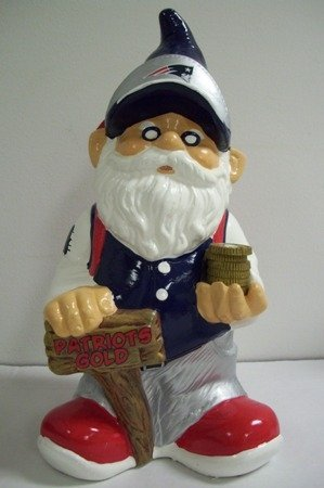 - NFL New England Patriots Team Gnome Bank