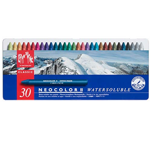 Caran dAche Classic Neocolor II Water-Soluble Pastels, 30 Colors