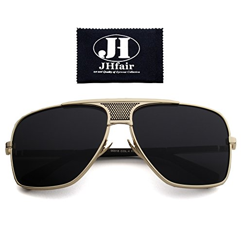 JHfair Brand Designer Large Square Aviator Fashion Mens - Shades Cool