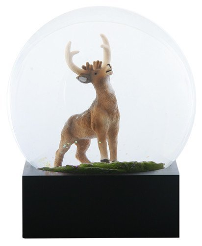 4.5 Inch Water Globe with Light Brown Colored Deer and Green Grass