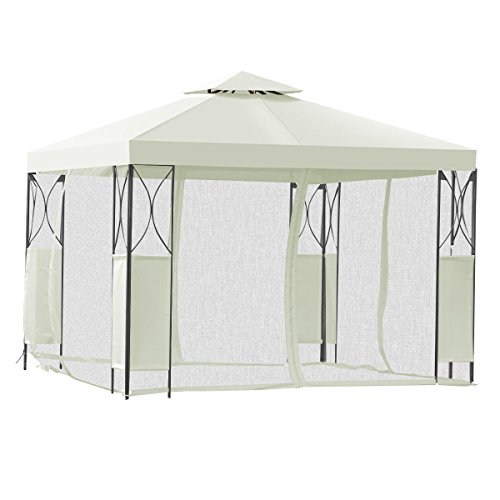 10' Nail Pegs (2-Tier 10'x10' Gazebo Canopy Tent Shelter Awning Steel Patio Garden Beige Cover)