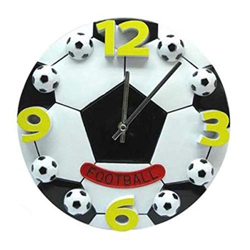 (Wall Watch - Creative World Cup Football Living Room The Bedroom Wall Clock Fashion Modern Clocks Decoration Mute - Ticking Time Pink Elderly Chiming Atomic Living Rectangular Tick Decorative)