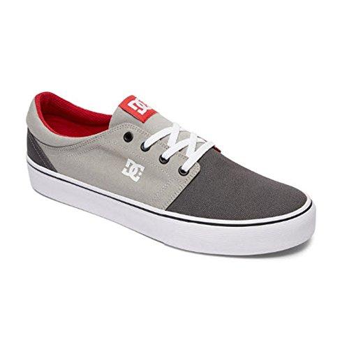 DC Women's Trase TX Skate Shoe Skateboarding Grey/red, 10 D US