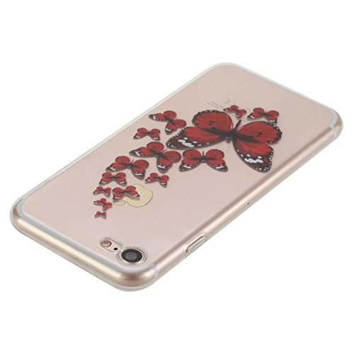 Für Apple iPhone 7 (4.7 Zoll) Hülle ZeWoo® TPU Schutzhülle Silikon Tasche Case Cover - HX008 / Schmetterling