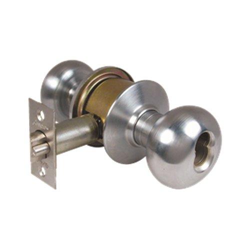 Lockset Arrow (Arrow Lock M11TA-IC-300-121-26D MK Entry Lockset Tudor Knob 2-3/8 In. BS IC Less Core Dull Chrome)