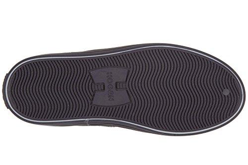 Hogan Rebel chaussures baskets hautes sneakers enfant garçon en daim neuves r141