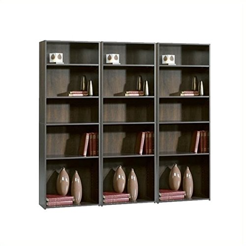 Sauder Beginnings 5-Shelf Bookcase, Cherry