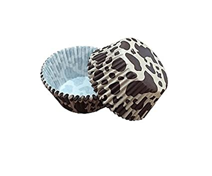Baking 25 PC Leopard Animal Print Standard Sized Cupcake Liners Bakell Caking and Craft Tools from Bakell