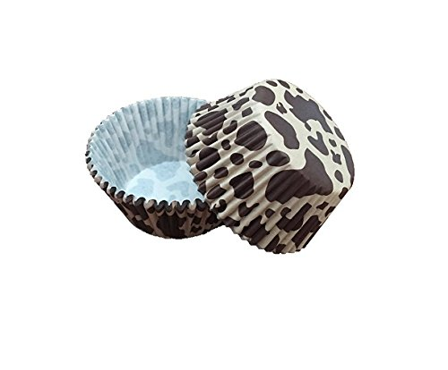 Bakell - 25 PC Set of Brown Leopard Cow Animal Print Cupcake Liners - Baking, Caking and Craft Tools from Bakell]()