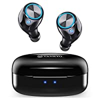 VANKYO Wireless Earbuds X180 in-Ear Bluetooth 5.0 Earphones, USB-C Charging Case, IPX7 Waterproof Sport Headphones with Mic, Touch Control, 25H Playtime for Gym, Home, Office, Single/Twin